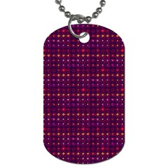 Funky Retro Pattern Dog Tag (two Sided)