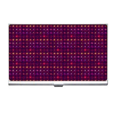 Funky Retro Pattern Business Card Holder