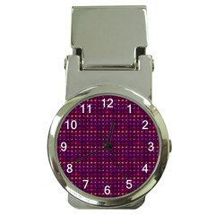 Funky Retro Pattern Money Clip With Watch