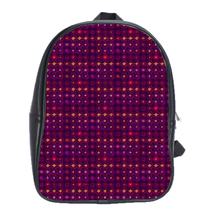 Funky Retro Pattern School Bag (Large)