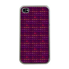 Funky Retro Pattern Apple Iphone 4 Case (clear)
