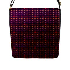 Funky Retro Pattern Flap Closure Messenger Bag (large)