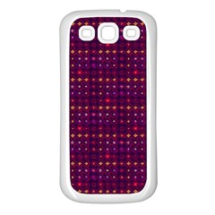 Funky Retro Pattern Samsung Galaxy S3 Back Case (white)