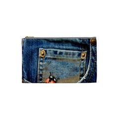 Blue Jean Lady Bug Cosmetic Bag (small)