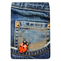 Blue Jean Lady Bug Removable Flap Cover (Large)