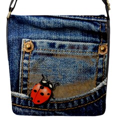 Blue Jean Lady Bug Removable Flap Cover (Small)