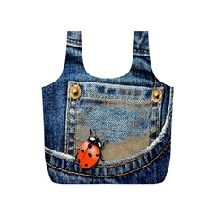 Blue Jean Lady Bug Reusable Bag (S)