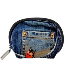 Blue Jean Lady Bug Accessory Pouch (small)