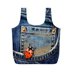 Blue Jean Butterfly Reusable Bag (m)