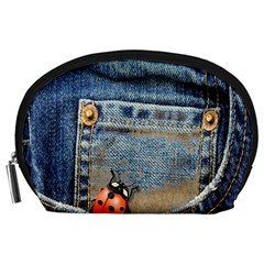 Blue Jean Butterfly Accessory Pouch (Large)