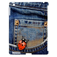 Blue Jean Butterfly Apple Ipad 3/4 Hardshell Case (compatible With Smart Cover)