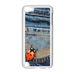 Blue Jean Butterfly Apple iPod Touch 5 Case (White)