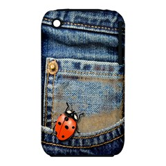 Blue Jean Butterfly Apple Iphone 3g/3gs Hardshell Case (pc+silicone)