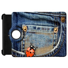 Blue Jean Butterfly Kindle Fire Hd 7  (1st Gen) Flip 360 Case