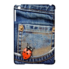 Blue Jean Butterfly Apple iPad Mini Hardshell Case (Compatible with Smart Cover)