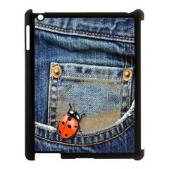Blue Jean Butterfly Apple Ipad 3/4 Case (black)