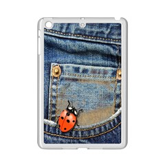Blue Jean Butterfly Apple iPad Mini 2 Case (White)