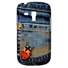 Blue Jean Butterfly Samsung Galaxy S3 Mini I8190 Hardshell Case