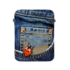 Blue Jean Butterfly Apple iPad Protective Sleeve