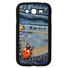 Blue Jean Butterfly Samsung Galaxy Grand Duos I9082 Case (black)