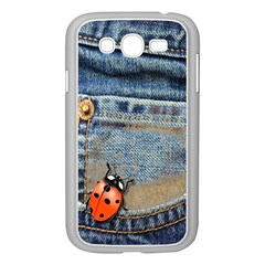 Blue Jean Butterfly Samsung Galaxy Grand DUOS I9082 Case (White)