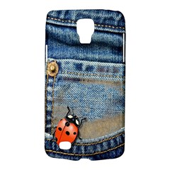 Blue Jean Butterfly Samsung Galaxy S4 Active (I9295) Hardshell Case