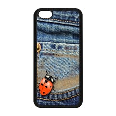 Blue Jean Butterfly Apple iPhone 5C Seamless Case (Black)