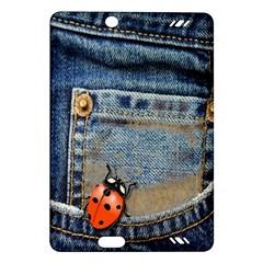 Blue Jean Butterfly Kindle Fire HD 7  (2nd Gen) Hardshell Case