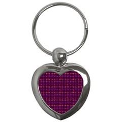 Funky Retro Pattern Key Chain (heart)