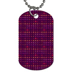 Funky Retro Pattern Dog Tag (Two-sided)