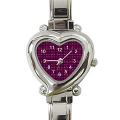 Funky Retro Pattern Heart Italian Charm Watch
