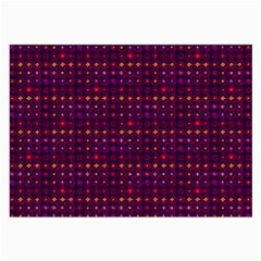 Funky Retro Pattern Glasses Cloth (Large, Two Sided)