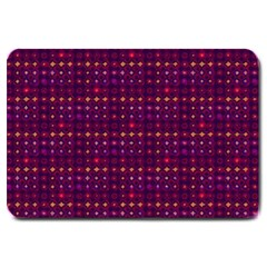 Funky Retro Pattern Large Door Mat