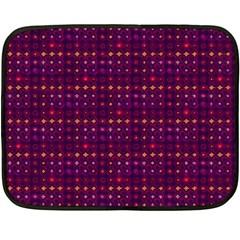 Funky Retro Pattern Mini Fleece Blanket (two Sided)
