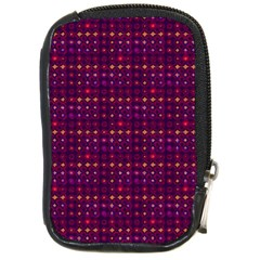 Funky Retro Pattern Compact Camera Leather Case