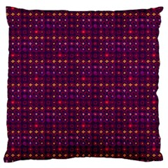 Funky Retro Pattern Large Cushion Case (two Sided)