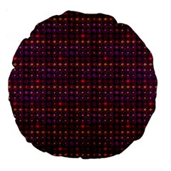 Funky Retro Pattern 18  Premium Round Cushion