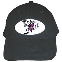 Awareness Flower Black Baseball Cap