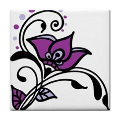 Awareness Flower Ceramic Tile