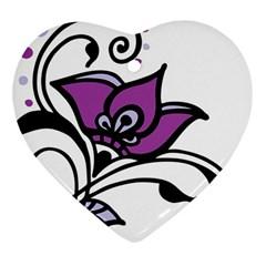 Awareness Flower Heart Ornament