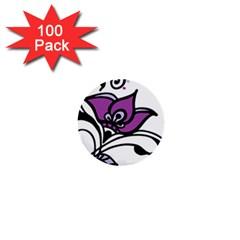 Awareness Flower 1  Mini Button (100 Pack)