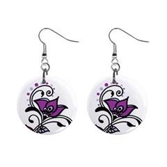 Awareness Flower Mini Button Earrings