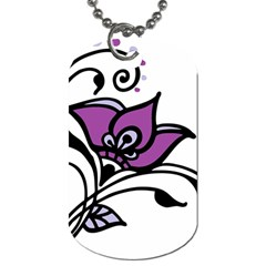 Awareness Flower Dog Tag (two Sided)