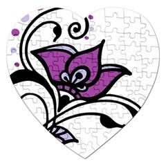 Awareness Flower Jigsaw Puzzle (Heart)