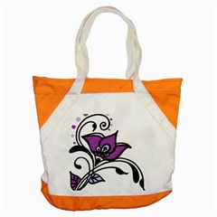Awareness Flower Accent Tote Bag