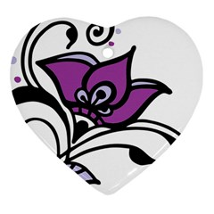 Awareness Flower Heart Ornament (Two Sides)