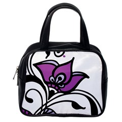 Awareness Flower Classic Handbag (one Side)