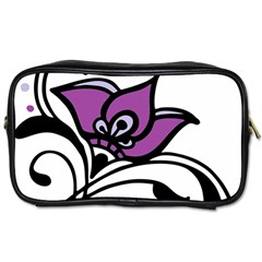 Awareness Flower Travel Toiletry Bag (two Sides)