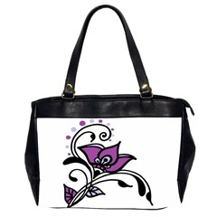 Awareness Flower Oversize Office Handbag (two Sides)
