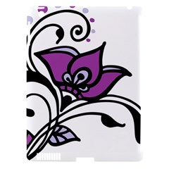 Awareness Flower Apple Ipad 3/4 Hardshell Case (compatible With Smart Cover)